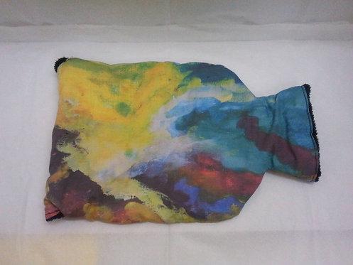 housse de bouillotte-motif multicolore-artisanat français