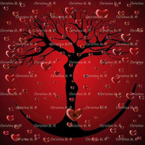 Mandala en forme d'arbre femme-panneau mural à imprimer-art numérique