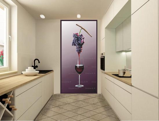 décoration cuisine panneau mural-verre d