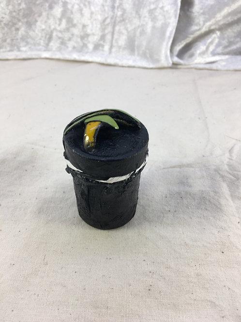 mini boîte à bijoux-émaux vert jaune-Christine M. artisanat français
