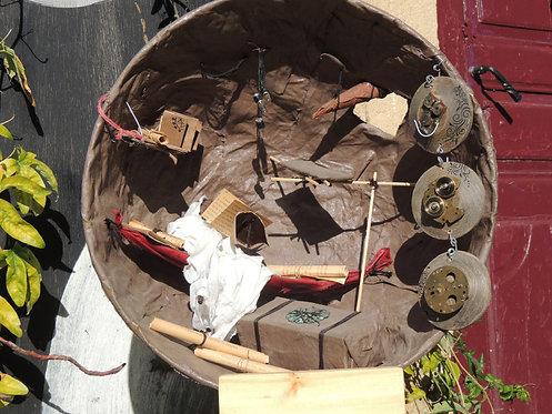 sculpture-chambre de lecture-création esprit nomade-matières multiples-vue1