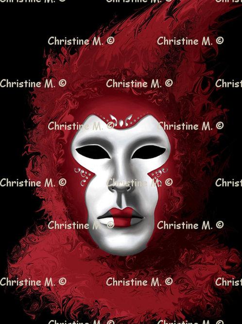 Masque de carnaval rouge-Tableau à imprimer-art numérique