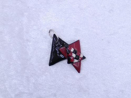 pendentif - 3 triangles - émaux sur cuivre