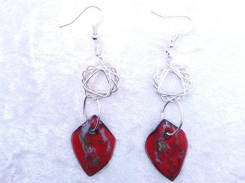 boucles d'oreilles-losange-ressort-métal-jonc-émaux artisanat français