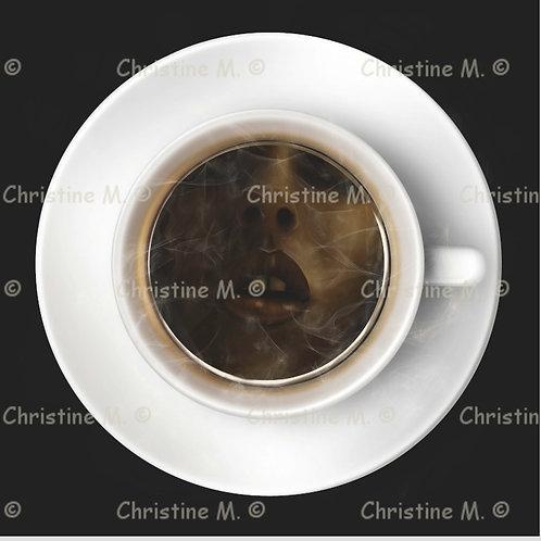 Pause café-décoration murale à imprimer-art numérique