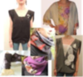 vêtements, top, haut, tunique, écharpe,gants et mitaines, créations de pièces uniques par Plume
