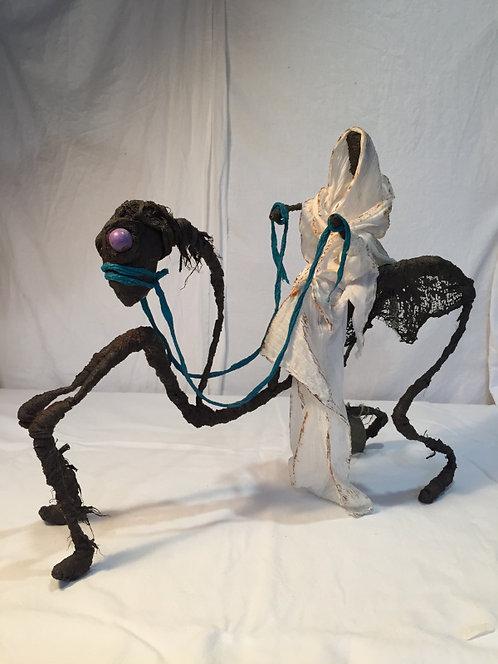 Karapatt 1 sculpture en tissu et métal vue 1