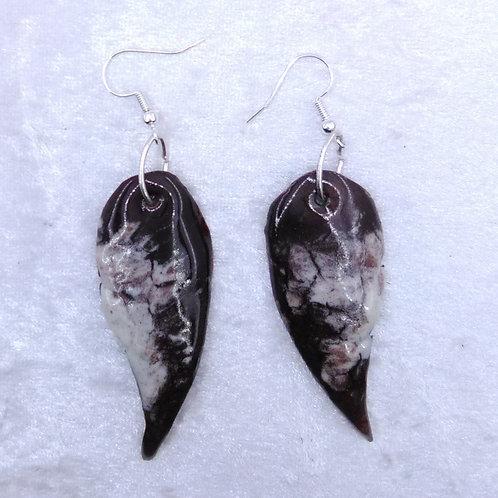 boucles d'oreilles ailes d'oiseau-émaux-artisanat français