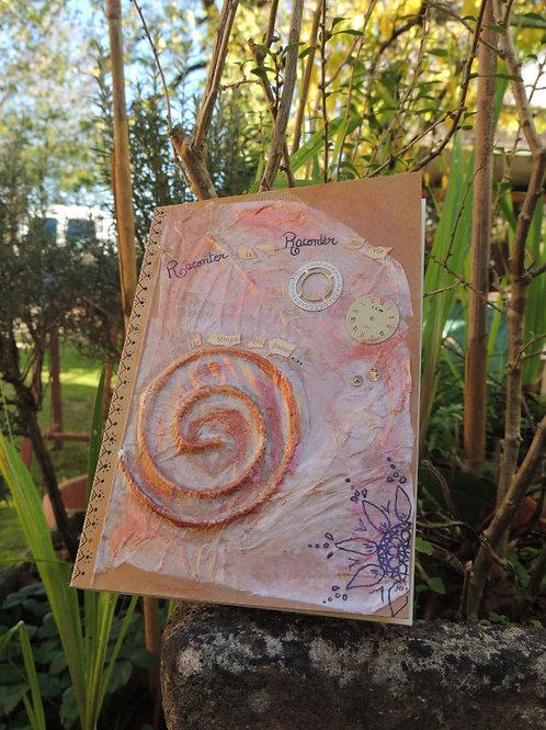 journal intime-couverture 3D-spirale et cadrans-création esprit nomade-couverture