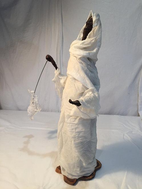 Découvreur 3 sculpture en tissu et métal