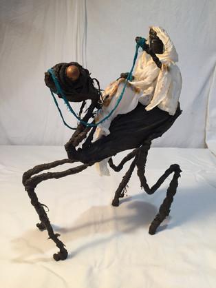 sculpture matières composites-personnage