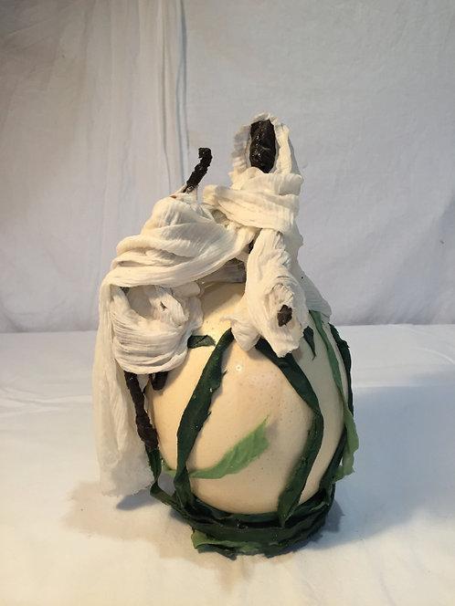 Discuteur 2 sculpture en tissu et métal vue 1