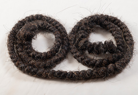 Horse tail hair string