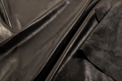 Degrained leather