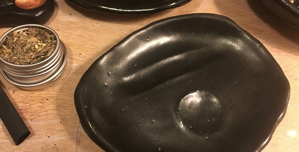 3# Ceramic herbal smoking bowl (satin black)