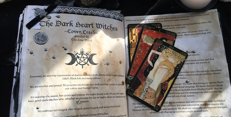 Dark Heart Witches Coven Creed