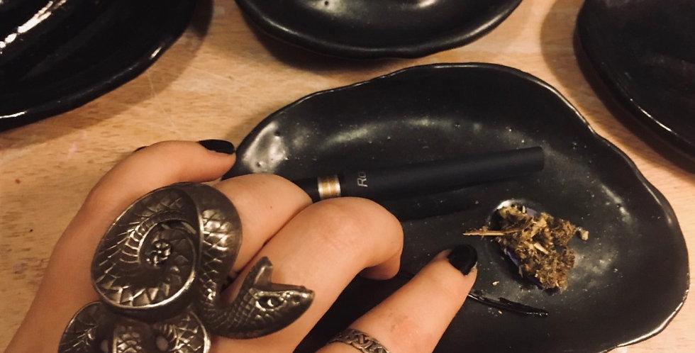 10# Ceramic herbal smoking bowl (satin black)