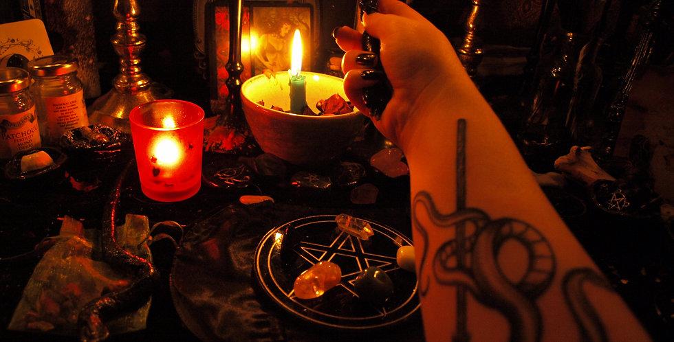 Be Gone! Banishment + Protection Spell- Lavender moon level