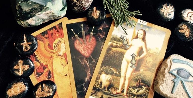 'Maiden, Mother, Crone' triple goddess advice tarot + oracle reading