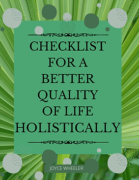 Checklist for a Better Quality of Life N