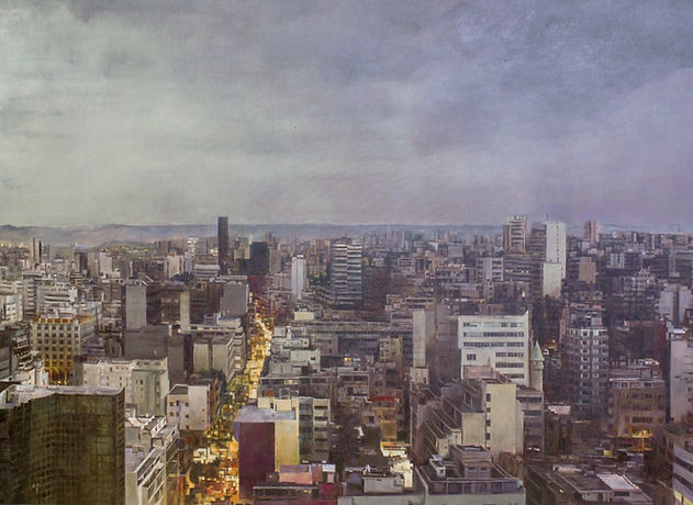 urban landscape IV, 145 x 114 cm, acrylo