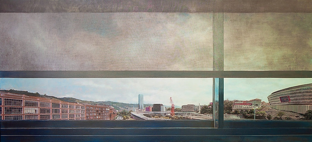 View from window 180 x 120 cm Acrylic o