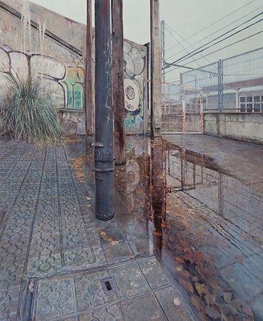 6. Barriers, 73 x 60 cm, acrylic on canv