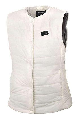 (白色) Smart V- 女裝無領兩用智能發熱背心