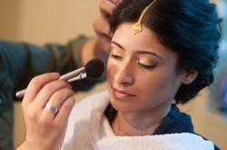 Makeup Application Bride