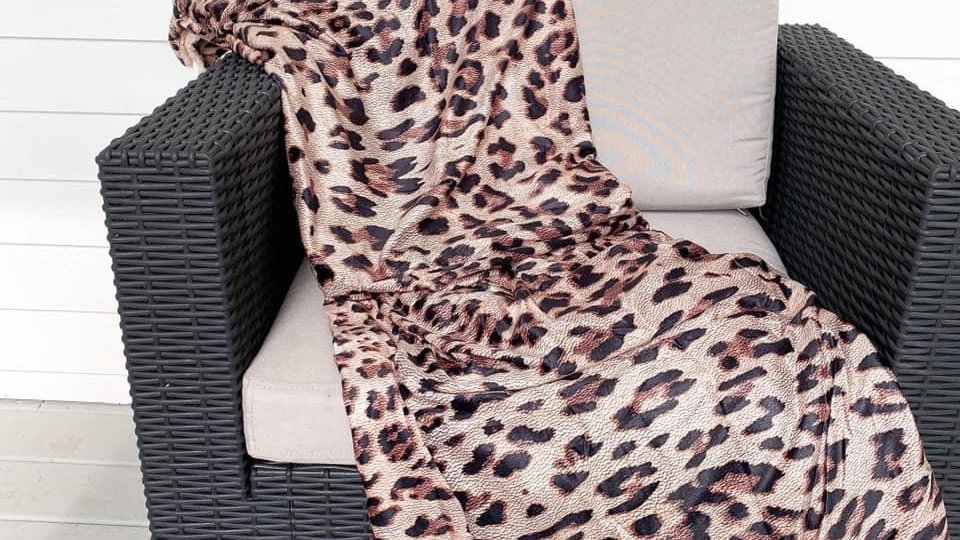 Leapord Sherpa Blankets
