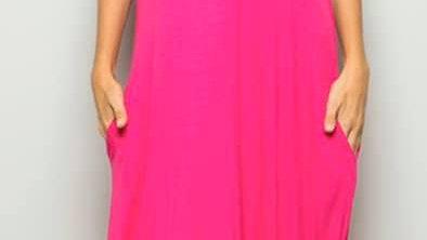 Pink Ruffle Tank Dress