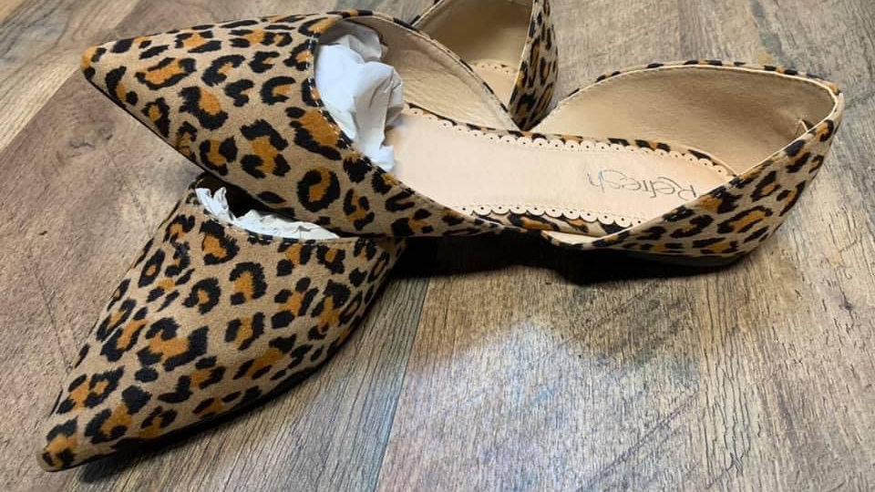 Flat Leapord shoe