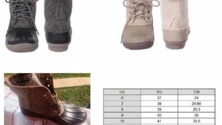 Short Duck boots