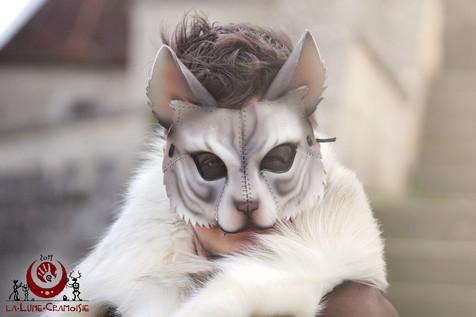 Chat blanc tigré