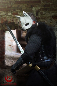 Loup blanc fluffy