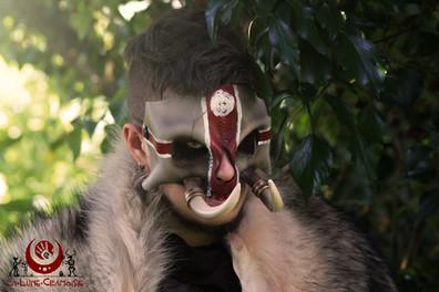 Crâne de troll décoré