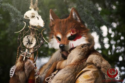 Loup roux fluffy