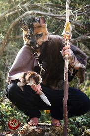 Hyène rousse fluffy