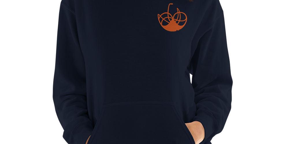 # 6 Haphazard heart – Embroidered Unisex Hoodie