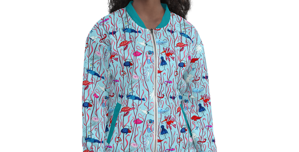 Deep Sea – unisex Bomber Jacket