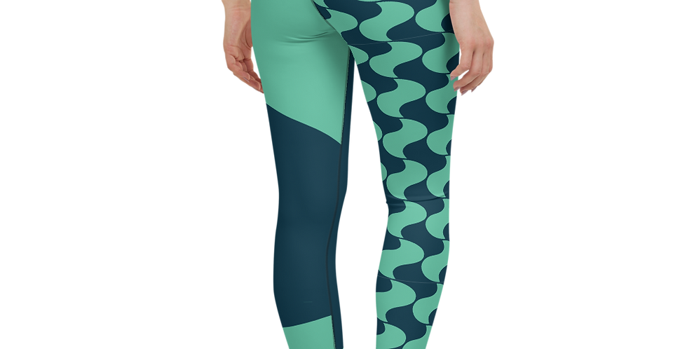 #44 Turquoise pringle – Yoga Leggings