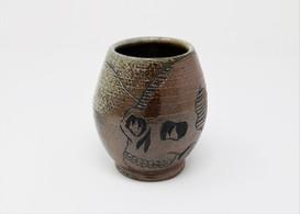 Flaming Skull Vase