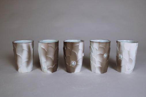 Carved Tumbler Set