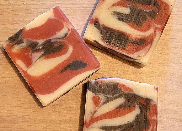 Leather Bound Books & Rich Mahogany Artisan Soap
