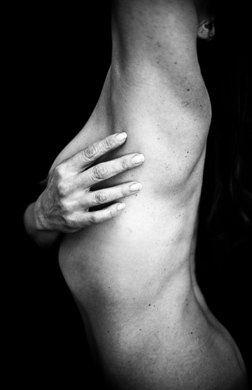 Artistic nude portrait