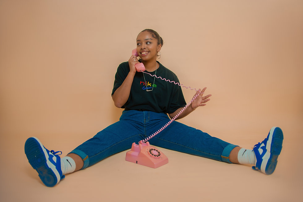 Model on the phone