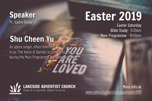 Easter 2019 Poster @ Lakeside Community Seventh-day Adventist Church