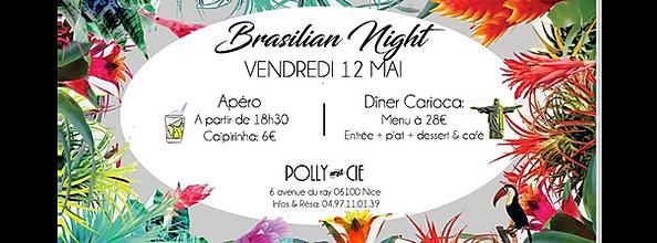 flyer brasilian night