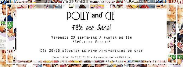flyer anniversaire 3 ans polly and cie