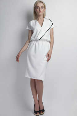 Robe portefeuille blanche